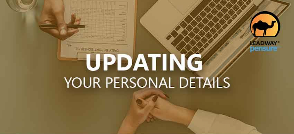 Updating your Personal Details